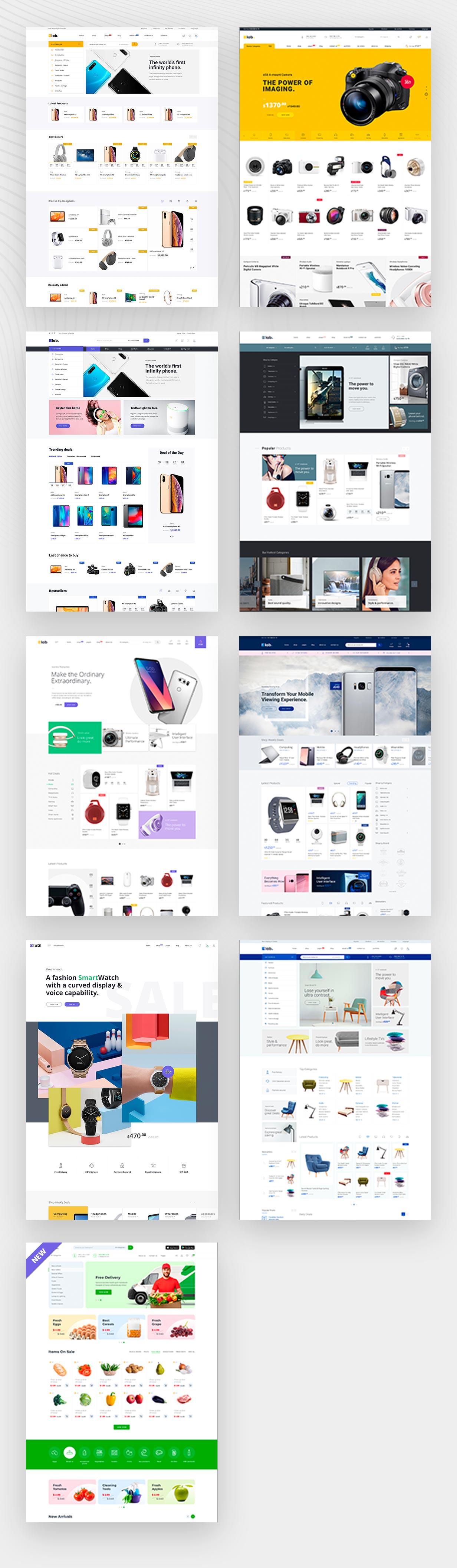 Demostraciones del tema eLab Multi Vendor Marketplace WordPress