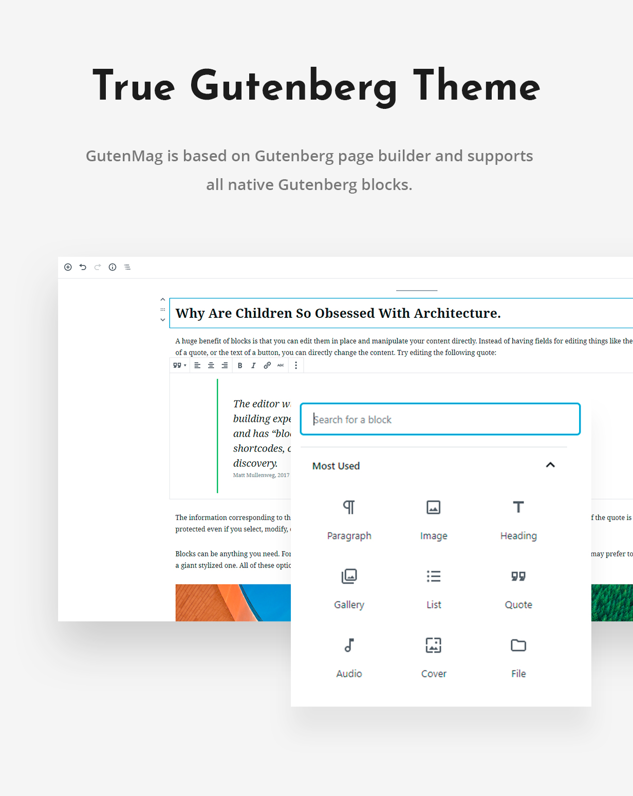 Gutenberg WordPress Theme