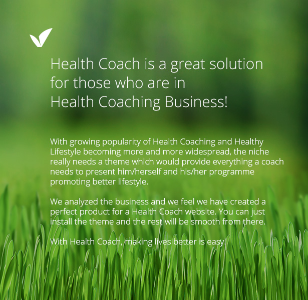 Health Coach - Personal Trainer WordPress theme - 1