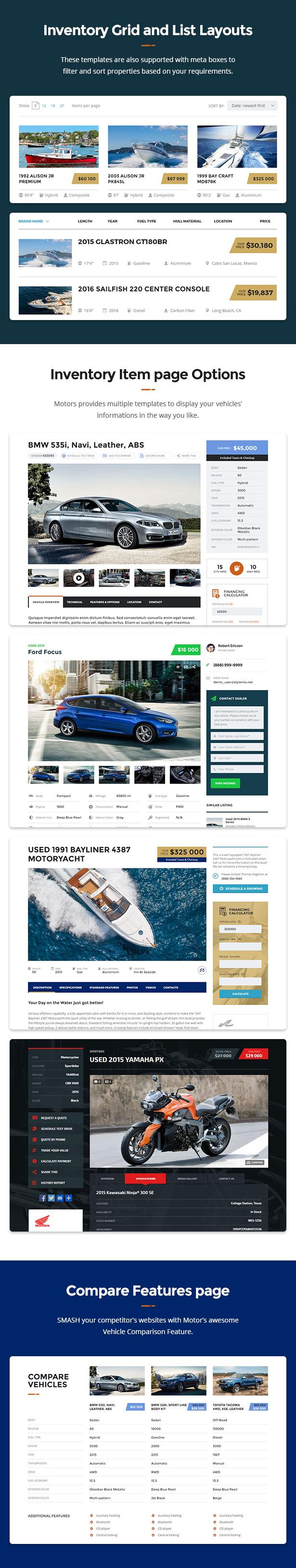 Motors - Car Dealer, Rental & Classifieds WordPress theme - 5