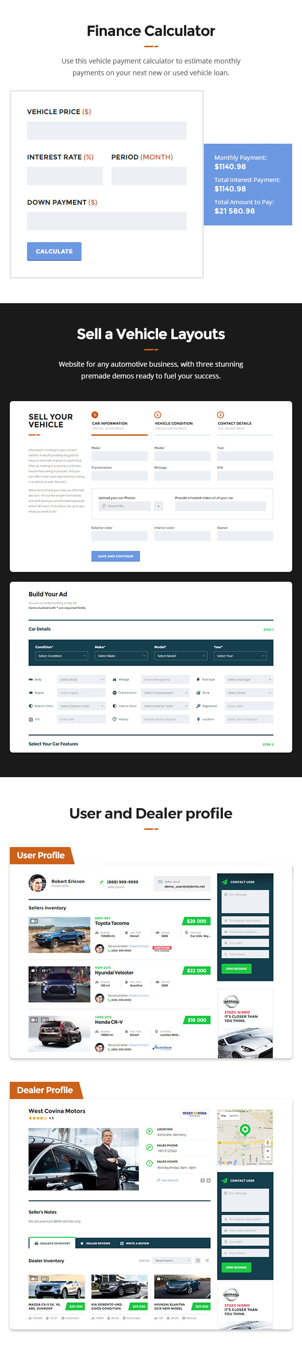 Motors - Car Dealer, Rental & Classifieds WordPress theme - 7