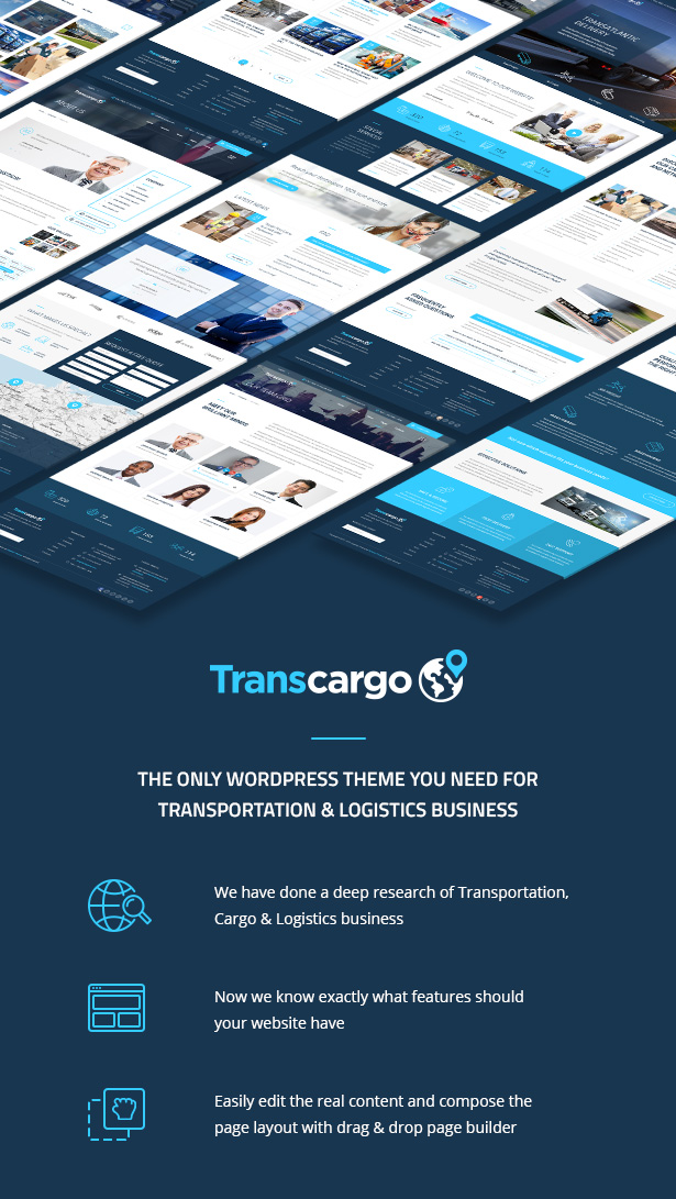 Transcargo - Transport WordPress Theme for Transportation, Logistics and Shipping Companies - 1