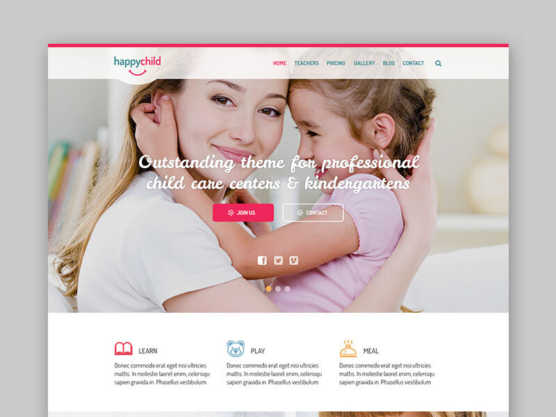 HappyChild – a Premium Kindergarten WordPress Theme
