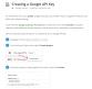 Creating Google API Key