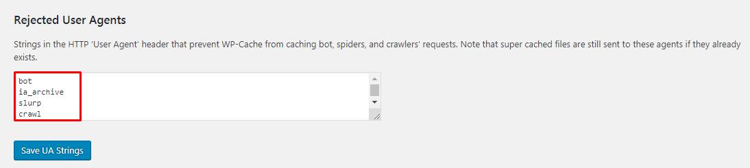 user agent setting