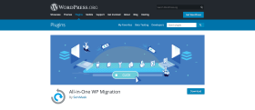 All-In-One WP Migration plugin homepage