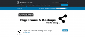 Duplicator plugin homepage