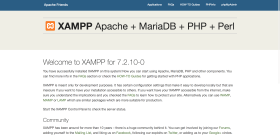 XAMPP Welcome Page