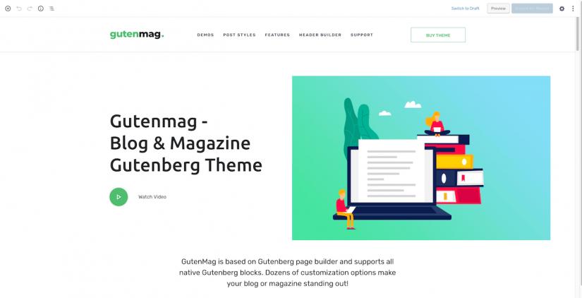 True Gutenberg WordPress Theme for Blogs and Magazine — GutenMag (1)